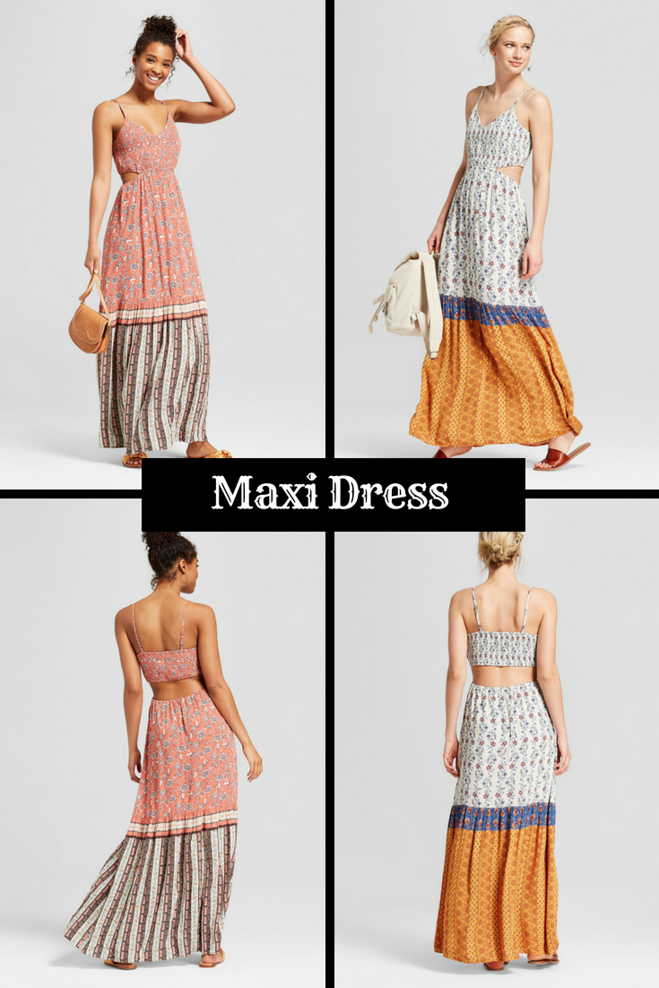 Women s Strappy Smocked Top Cut Out Maxi Dress - Xhilaration -  fashion   style  ad  clothes  clothing  shopping  shoppingonline  shoponline  women   ladys e191977a2