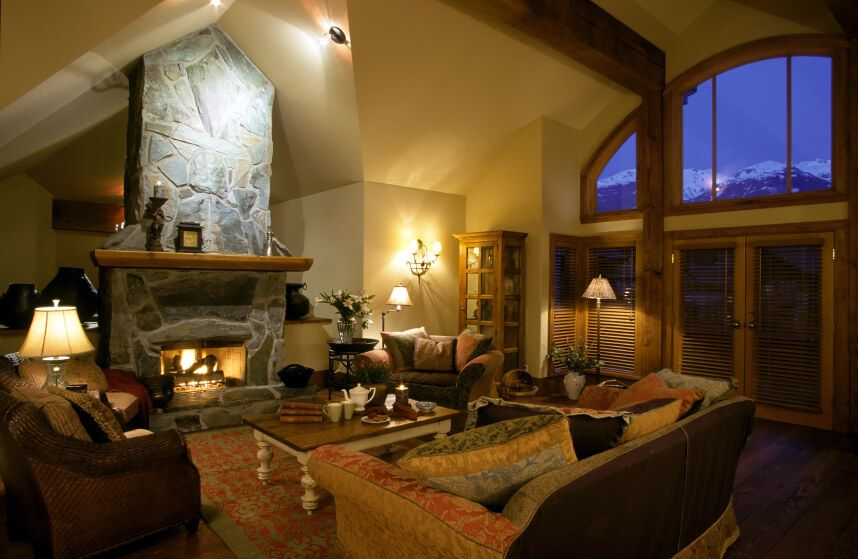 Designs For Living Rooms With Fireplaces 25 Incredible Stone Fireplace Ideas  Half Walls Cathedral