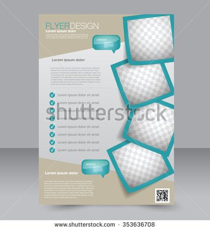Brochure design Flyer template Editable A4 poster for business - free pamphlet templates