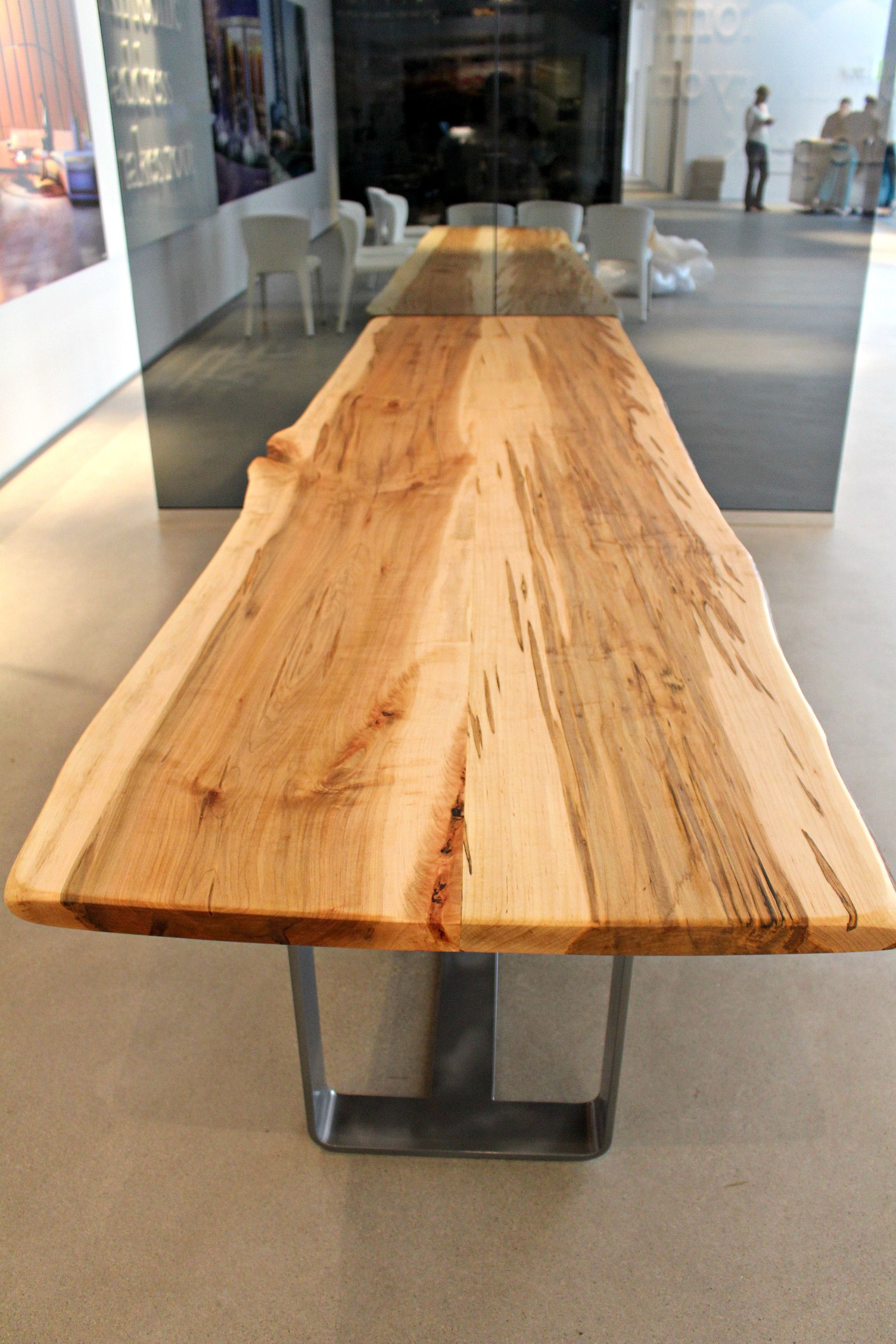Silver Maple Live Edge Table Munge Leung This Table Is From Living
