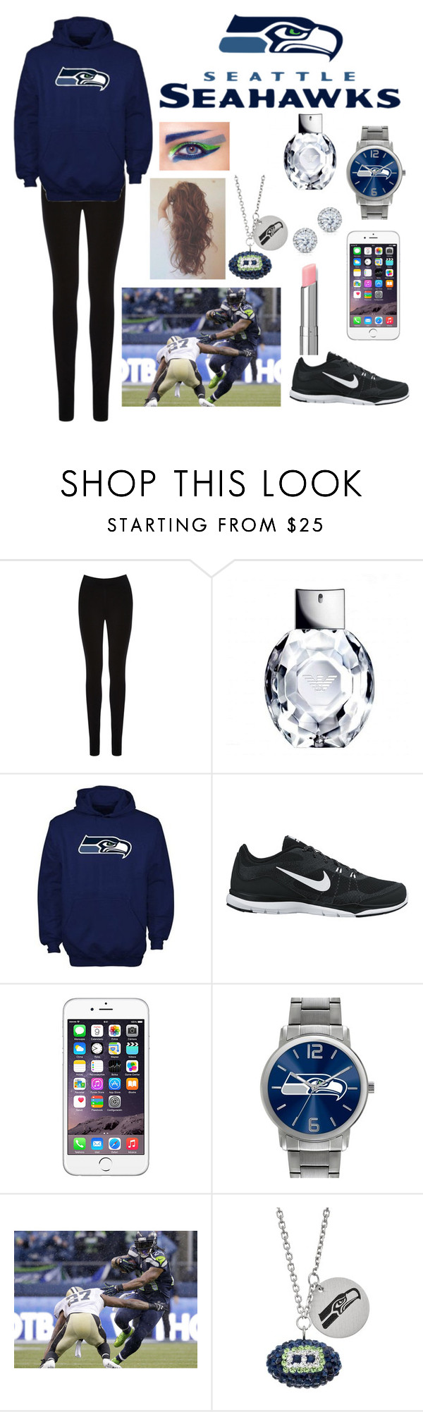 """You guys ready for some football?"" by maddie-huser ❤ liked on Polyvore featuring Oasis, NIKE, Game Time, COVERGIRL and Kobelli"