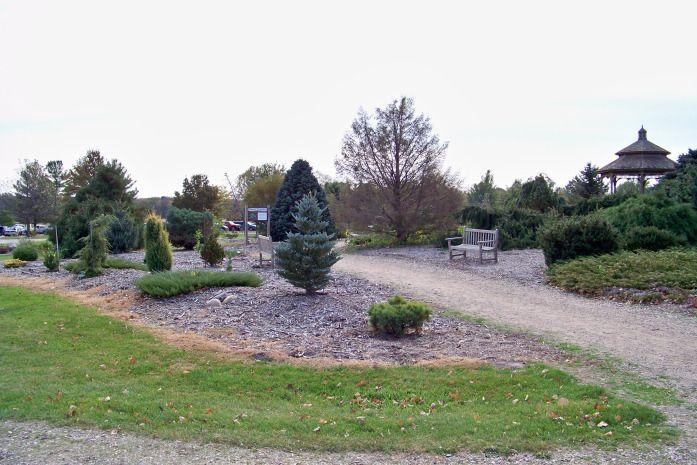 Iowa Arboretum Madrid IA has an outstanding rock garden/conifer garden