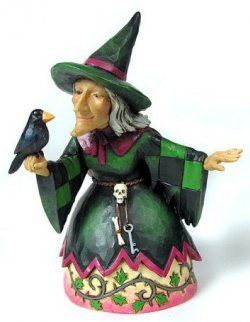 Jim Shore Witch and Raven Figurine ideal for Halloween decor