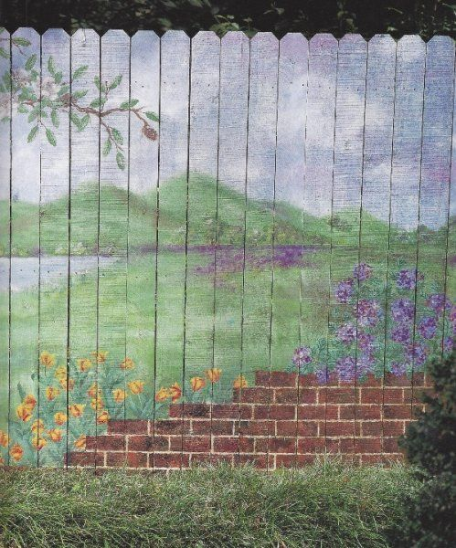 Painted Fence Pic