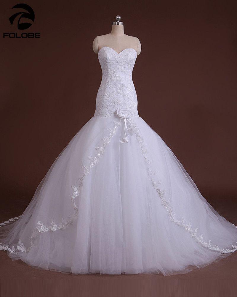 Custom Made Vestido De Casamento Ivory Satin Organza Tulle Flowers Strapless Mermaid L Wedding Dresses Lace Occasion Dresses Wedding Lace Mermaid Wedding Dress