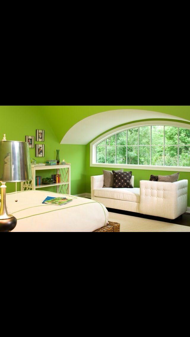 Green bedroom | Green bedroom walls, Lime green bedrooms ...
