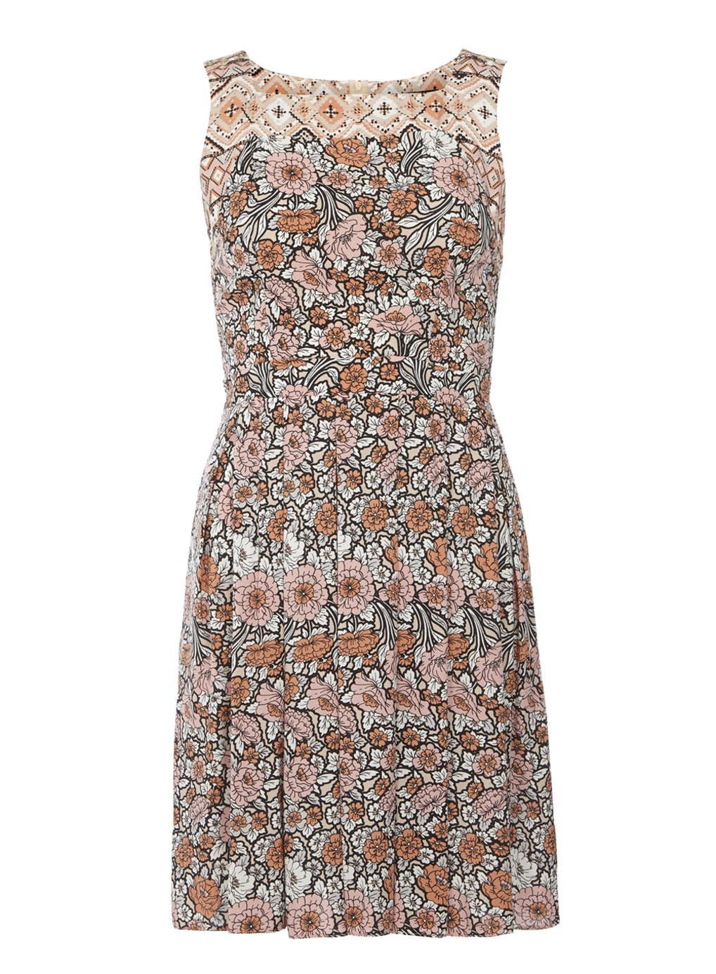Mix and match fit and flare dress