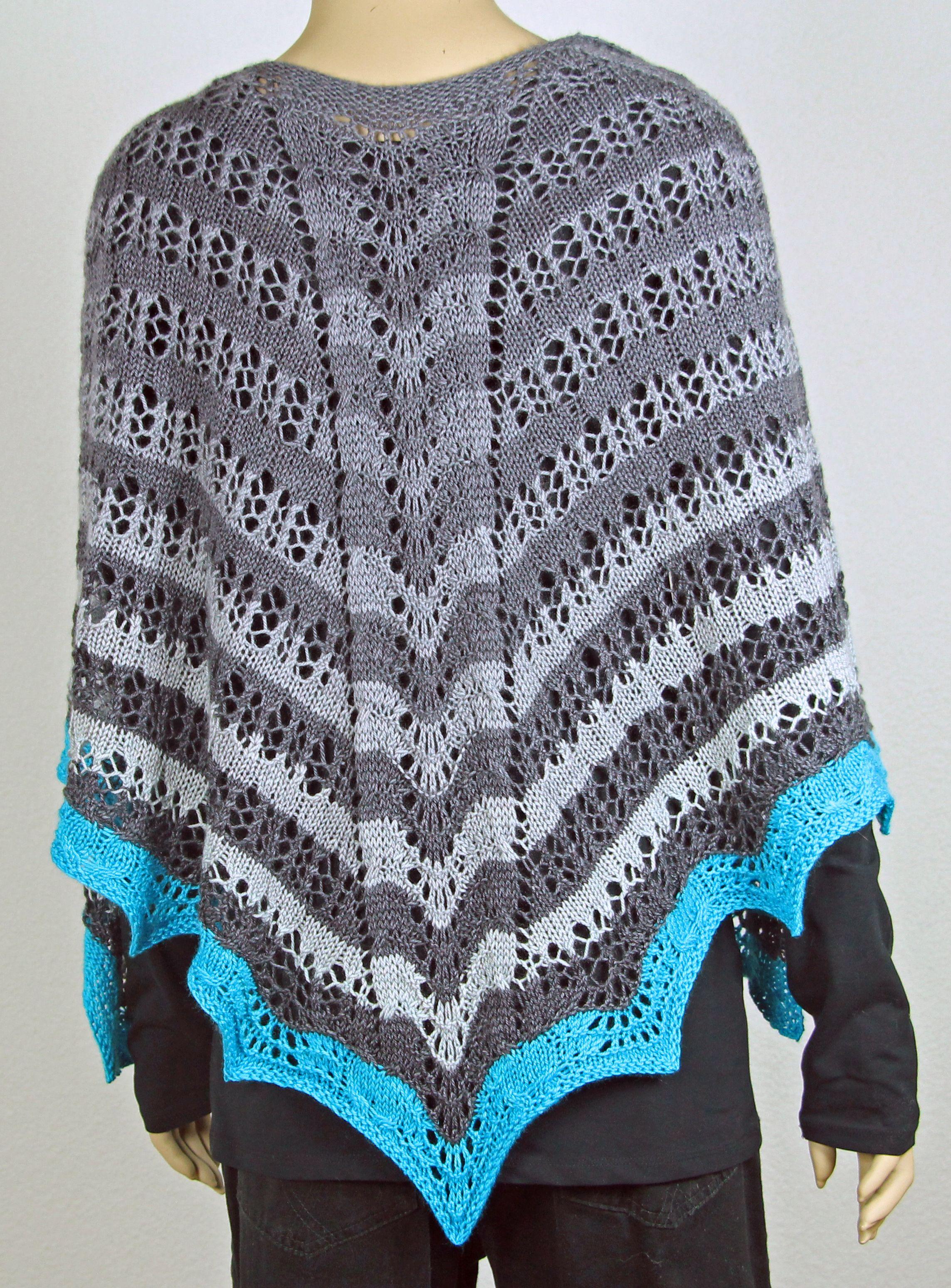Fade to Blue Faroese Shawl pattern by Tanja Luescher