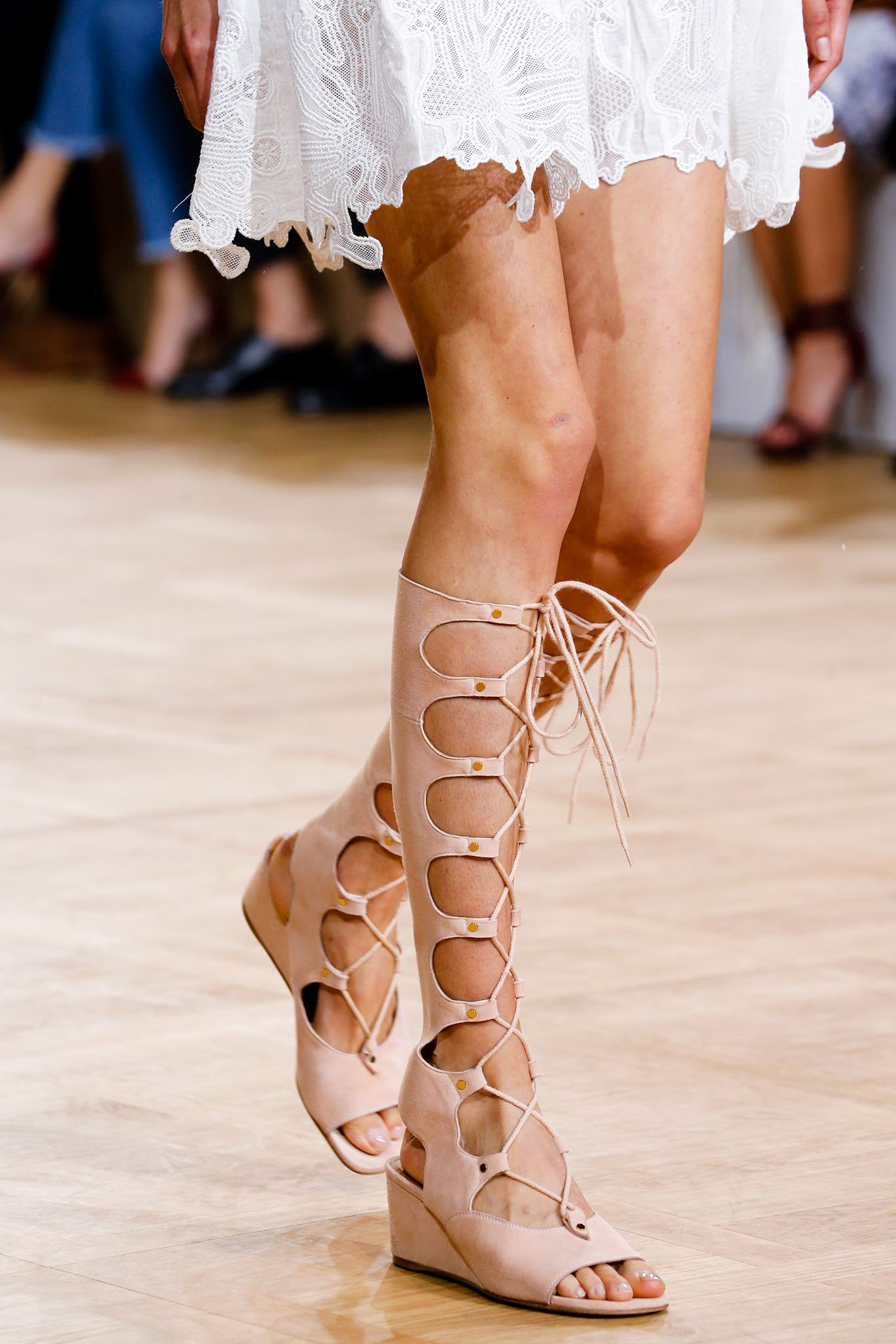 55905fea2 Chloé Spring 2015 Ready-to-Wear - Details - Gallery - Look 87 - Style.com I  want nude, with a slight wedge but shorter lace up.