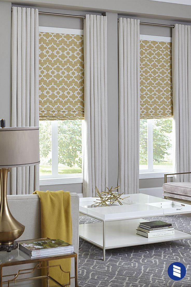 Premium Roman Shades Blinds Com In 2020 Window Treatments Living Room Living Room Blinds Living Room Decor Curtains