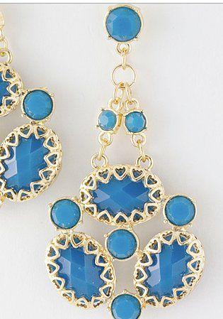 Blue Bunch earrings