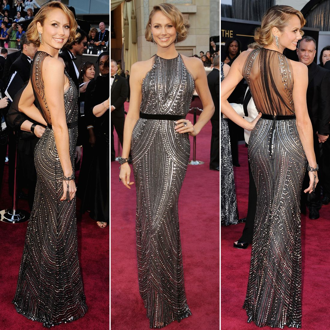 Oscars stacy keibler stacy keibler art deco and red carpet