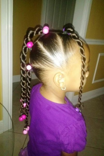 beaded hairstyles for little girls - Google Search | Girls