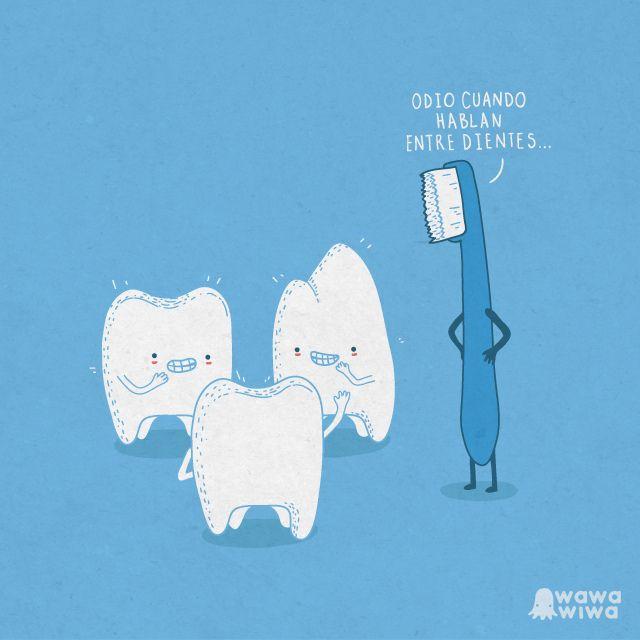 Hablando Entre Dientes Funny Images Funny Illustration