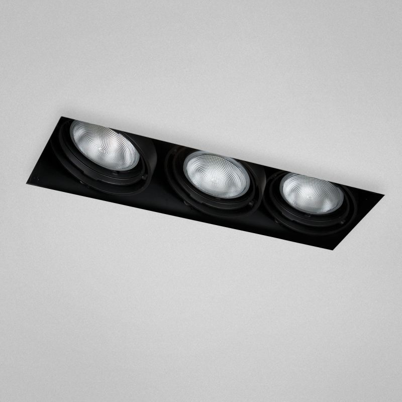 Eurofase lighting te223 3 light 19 trimless rectangle adjustable recessed light black recessed lights recessed