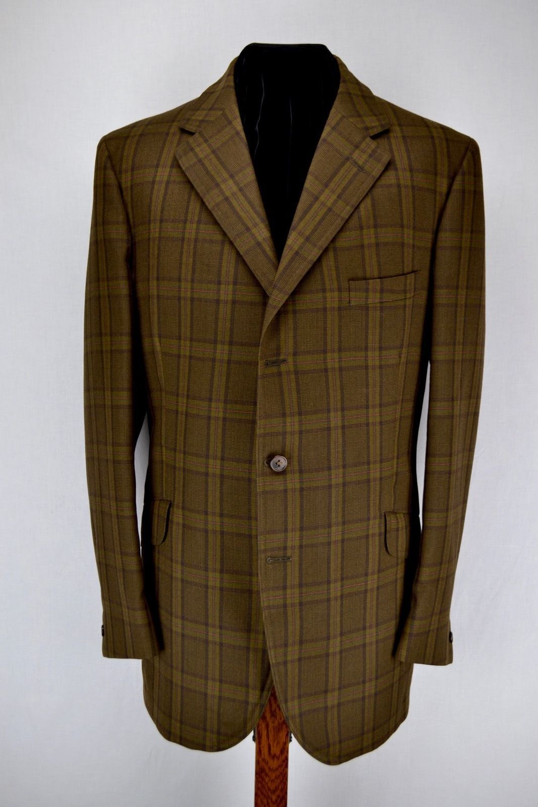 Giacca in Tweed Marrone Check