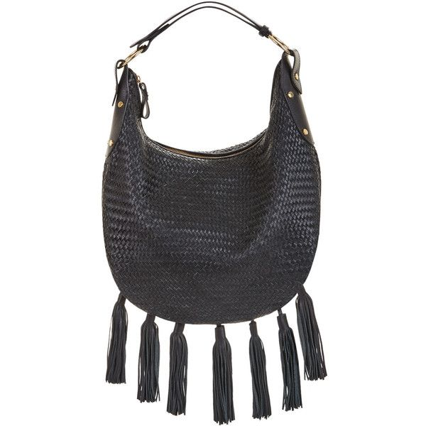 0ba11485dfea BCBGMAXAZRIA Delfina Woven Leather Tassel Hobo Bag (295 CAD ...