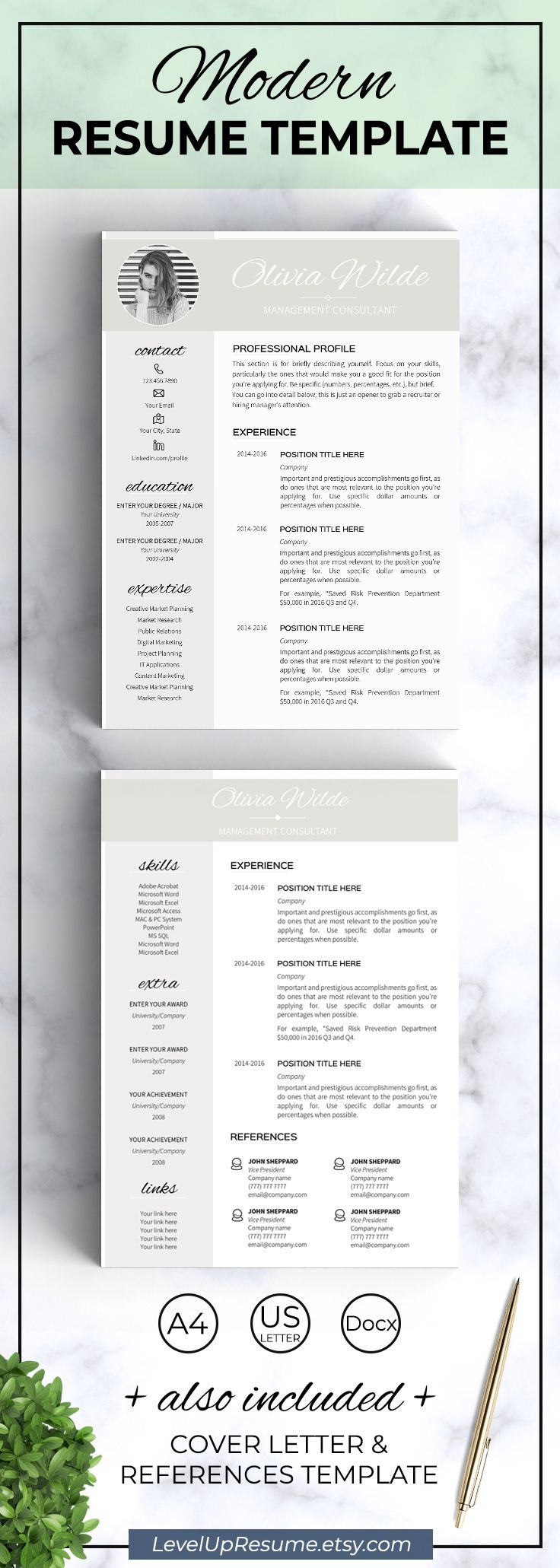 Modern Resume Templates Word Modern Resume Templates Word