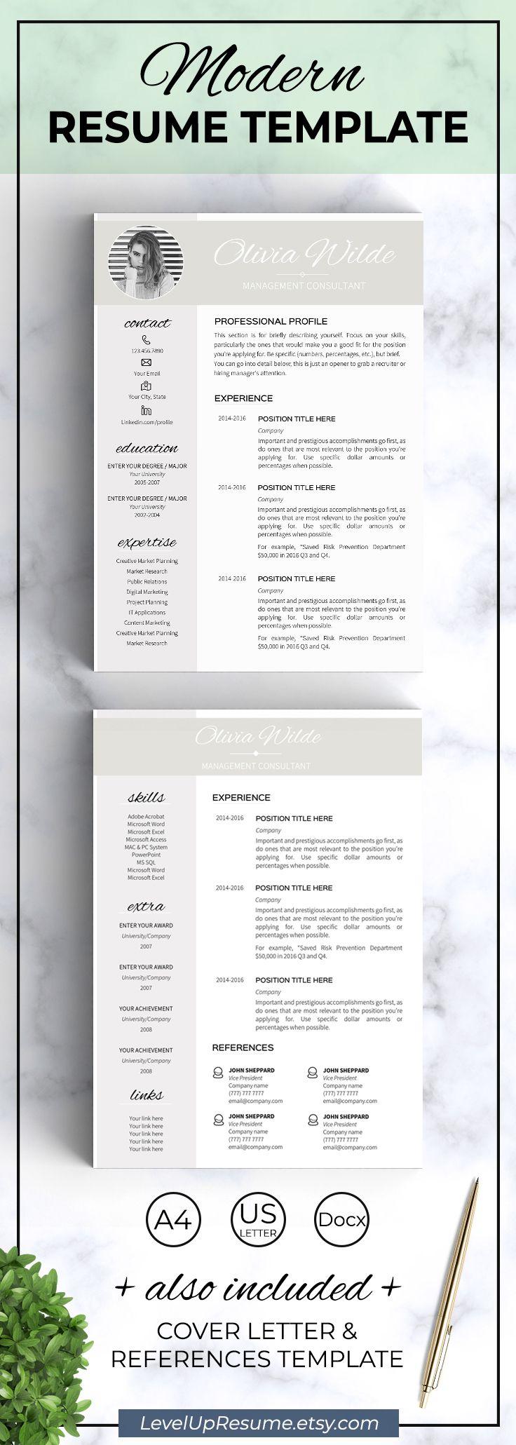 Modern Resume Template Professional Resume Design Career Advice