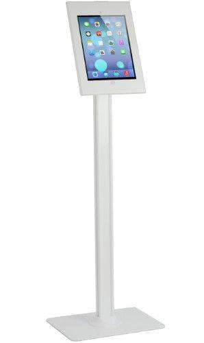 Anti Theft Key Lock Adjustable Floor Stand Kiosk Display For Apple Ipad Pro Tablet Holder Anti Theft Tablet