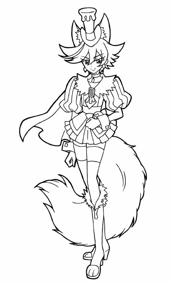 Precure Magical Girl Mahou Shoujo Coloring pages for