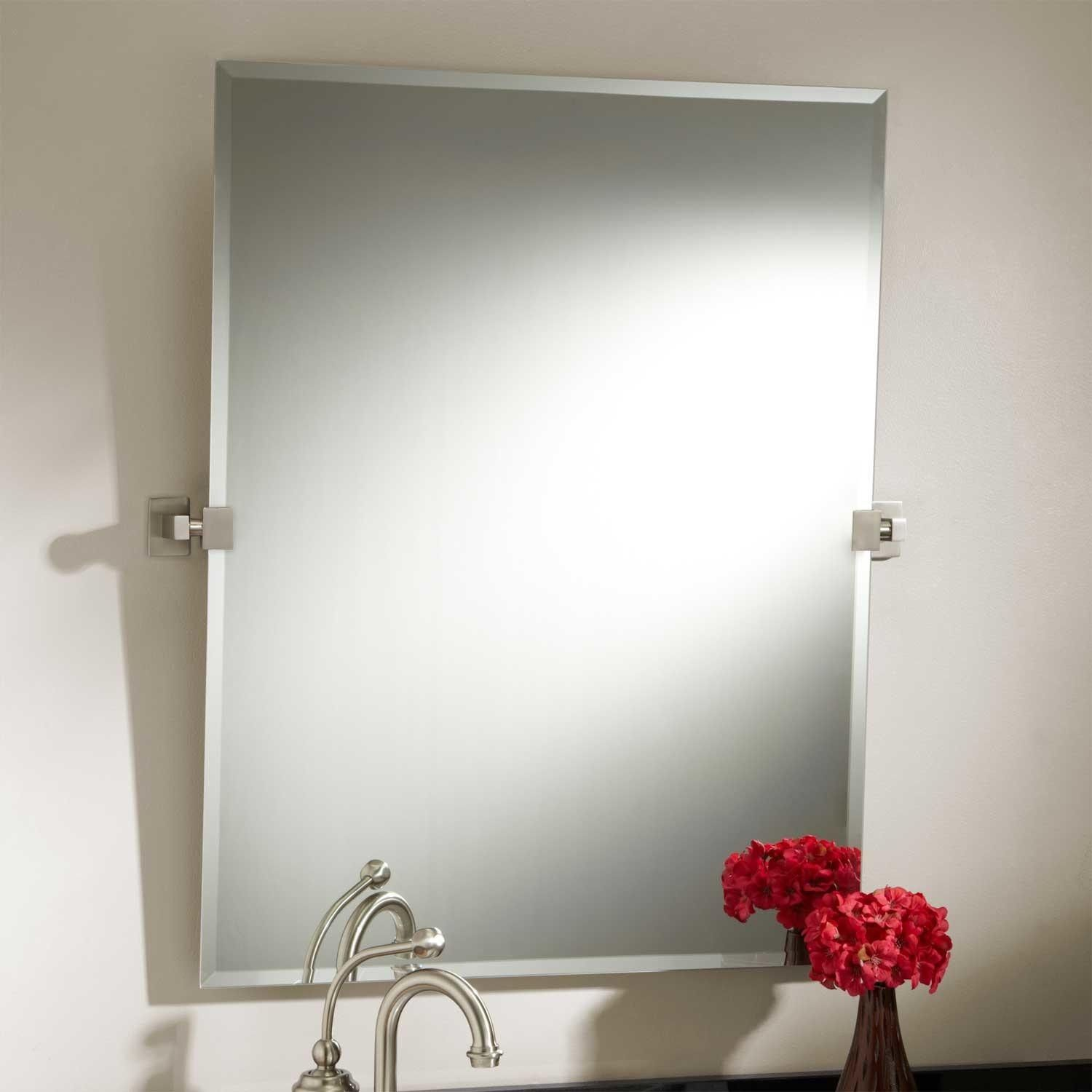 Square Tilting Bathroom Mirror