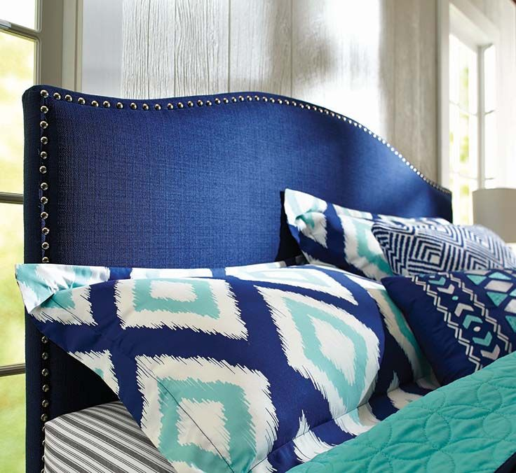 Better Homes And Gardens Grayson Linen Headboard In Navy Sweepstakes