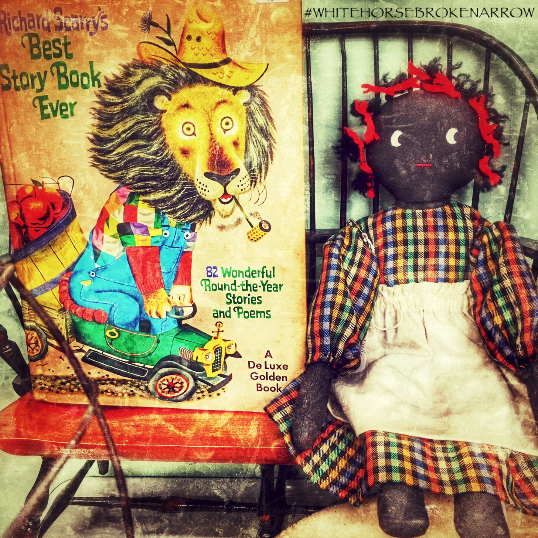 Cute Miniature Bench And Rag Doll In Booth 235 Jade