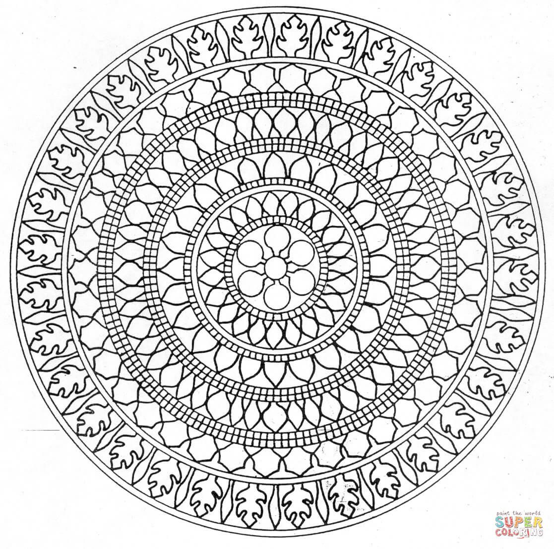29 printable mandala abstract colouring pages for meditation stress - Abstract Coloring Pages Printable