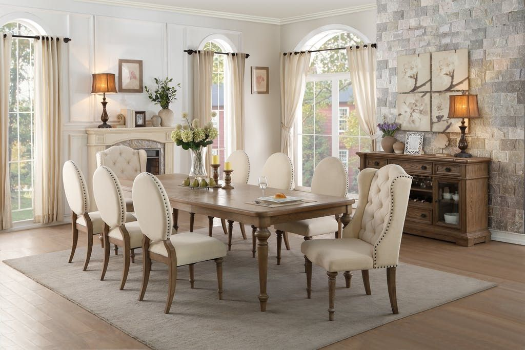 Homelegance Dining Room Dining Table, Oak Veneer 5545-112 ...