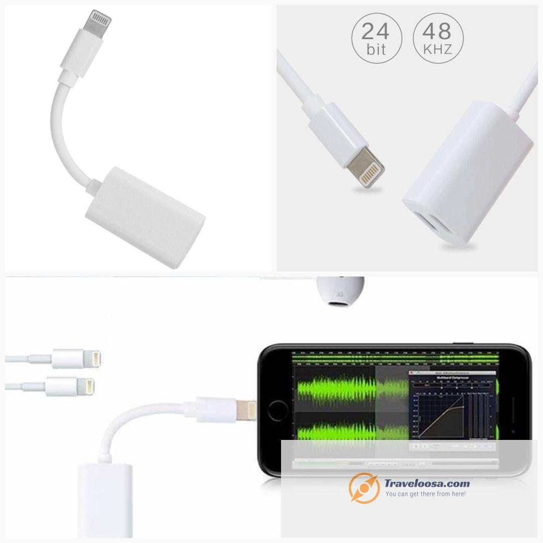 2 in 1 for iPhone Splitter Practical Dual for Lightning