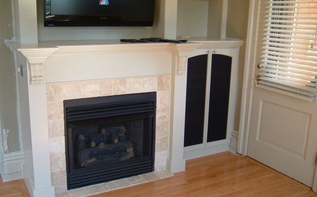 Added A Vent Free Fireplace In This Fireplace Remodel Fireplace