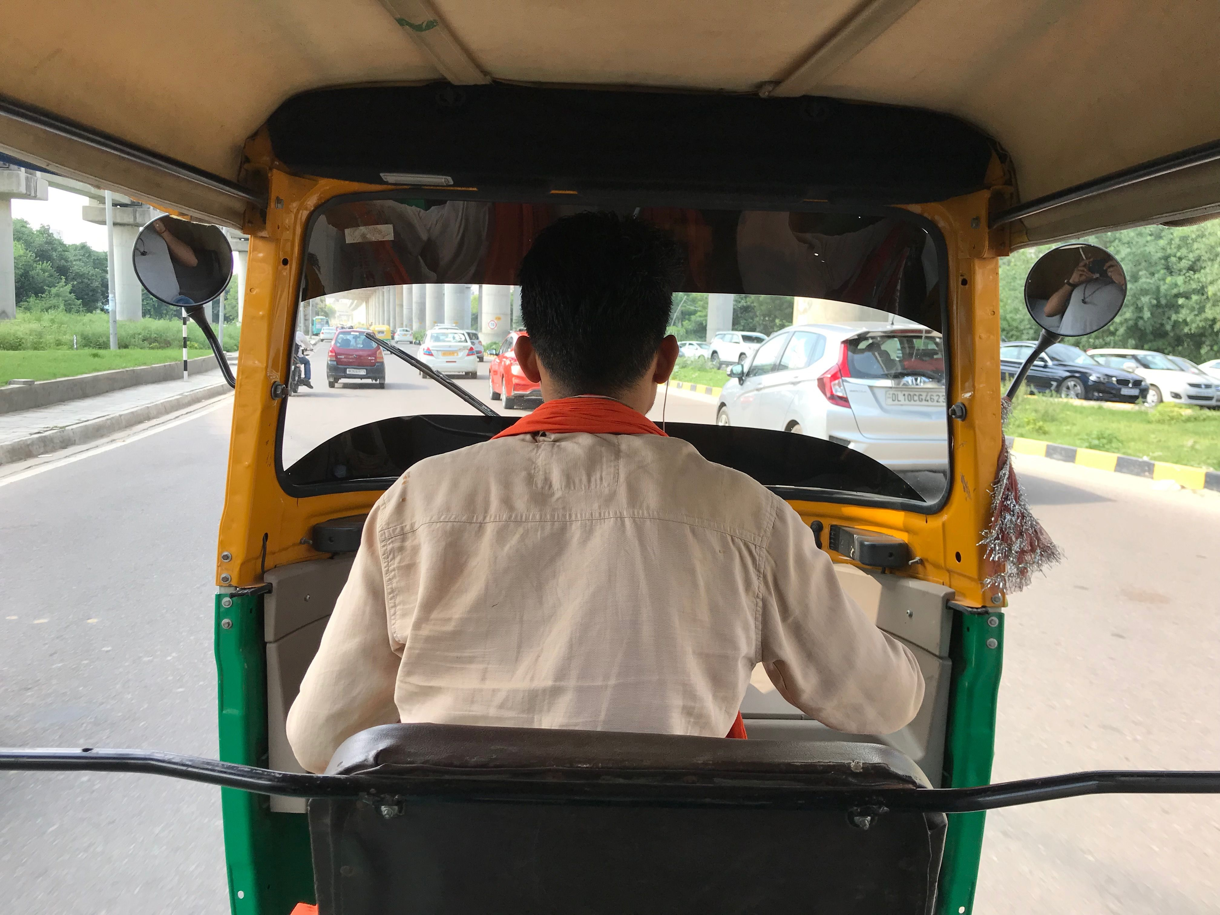 Driving Indian Auto Rikshaw Baby strollers, Auto, Back seat