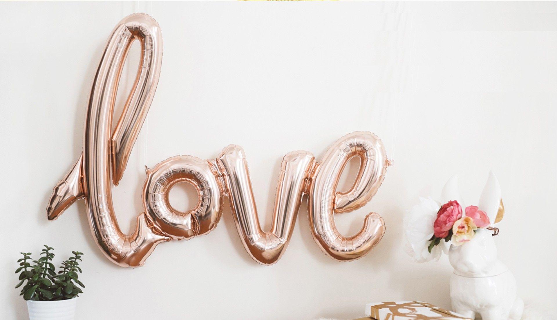 Großformatige Botschaften Namen des Brautpaares