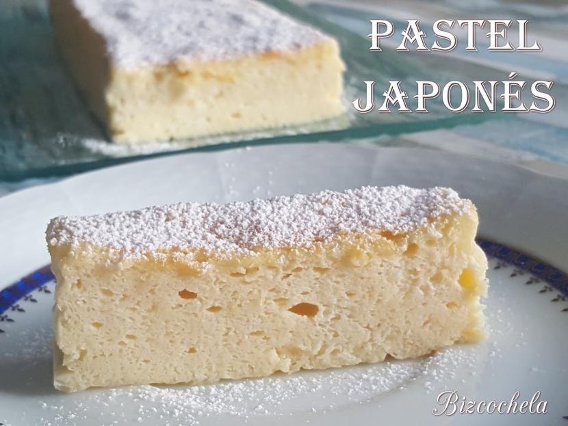 Pastel japonés con 3 ingredientes (y sin harina) | Postres Fáciles y ...