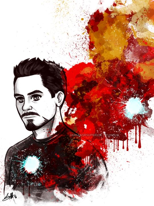 Tony Stark Art By Humansrsuperior Vingadores Desenho