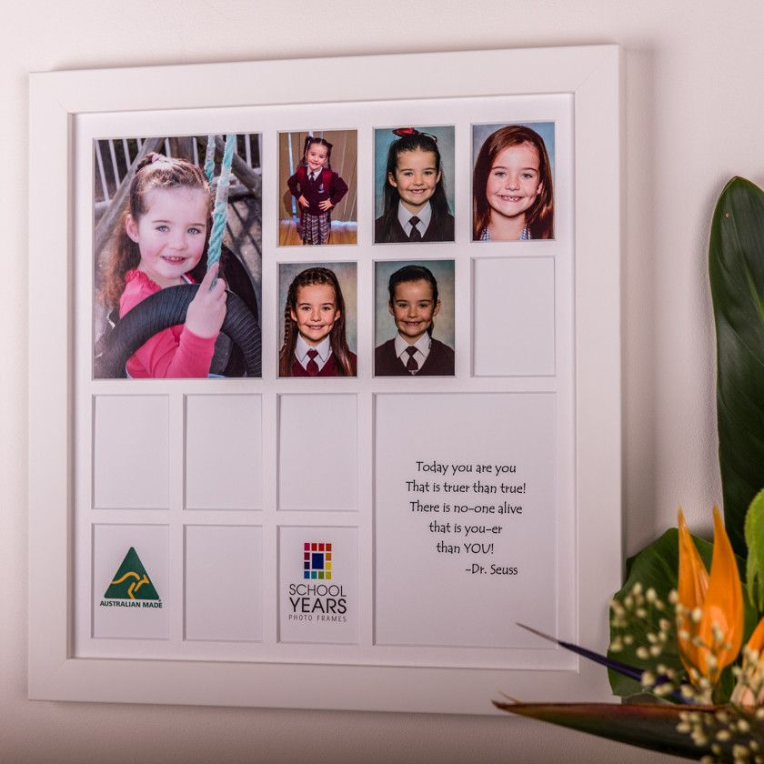 4c1fafe76b4f Large School Years Frame (with Pre-School) - White