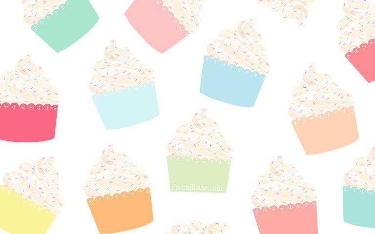 Fonds D Ecran Cupcakes Mac Iphone Ipad Claire La Paillette Blog Lifestyle D Une Illustratrice A Rennes En 2020 Ipad Iphone Iphone Bleu