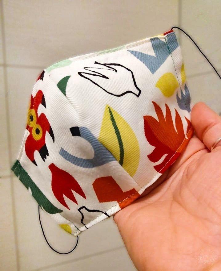 Schnittmuster Atemschutzmaske (Behelfsmundschutz), Staubschutzmaske » Textilsucht