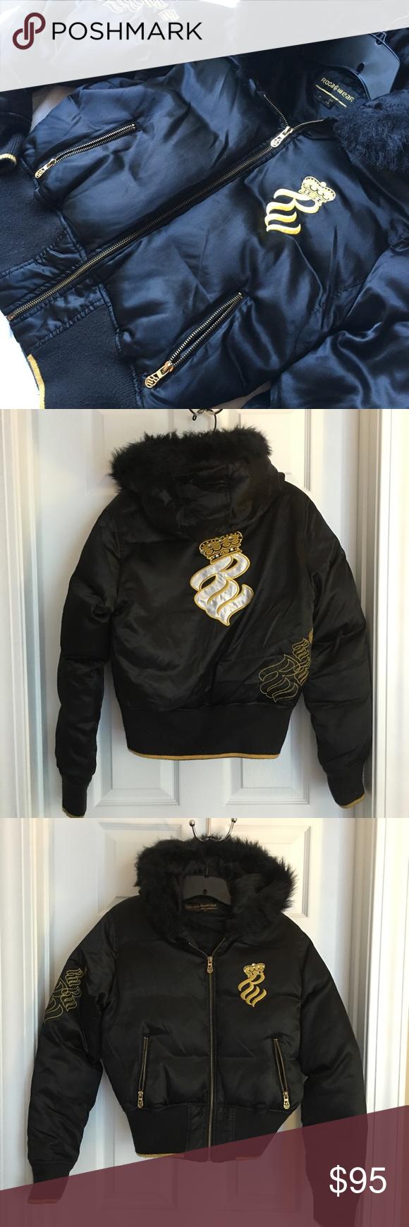 Rocawear Down Bomber Jacket Fur Hood Rocawear Fur Jacket Fur Hood [ 1740 x 580 Pixel ]
