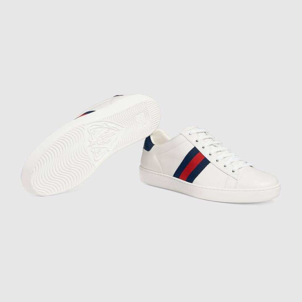 Gucci Ace Damensneaker Aus Leder Low Top Sneakers Moda Juvenil Hombre Hombres