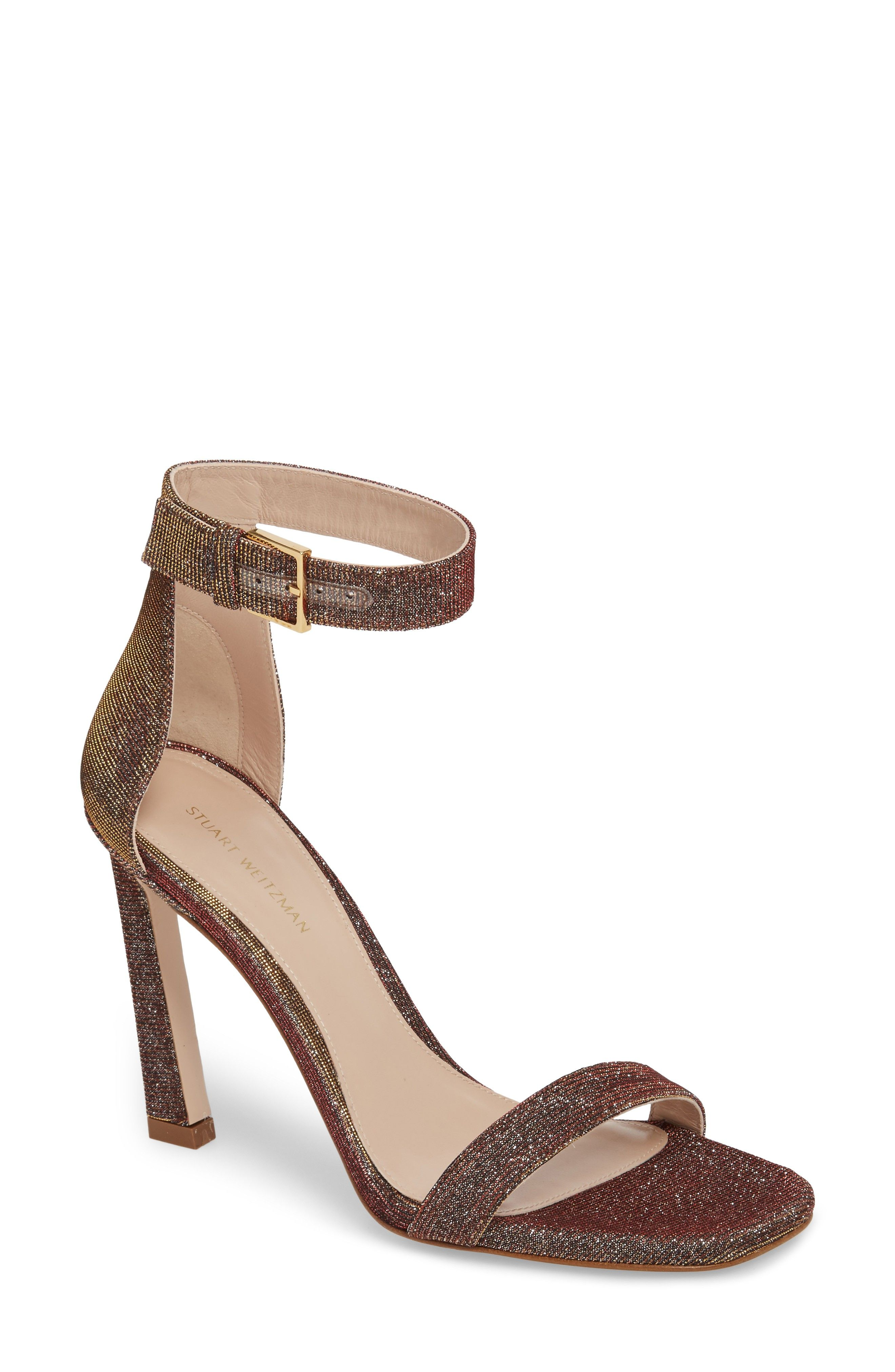 Sast Cheap Price Square nudist sandals - Brown Stuart Weitzman Visit New Recommend Online Manchester Many Styles rN8lVqS1H