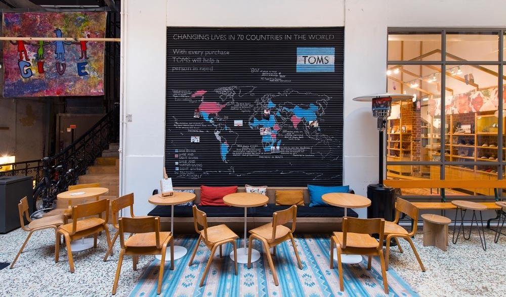 8a55f633e31 Thessaloniki Toms Flagship Store   Café - The Greek Foundation ...