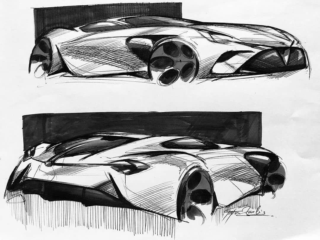Cardesign Ru On Instagram Supercar Sketch By Arjunkumar Bavalia Arjunkumarbavalia13888 Cardesign Supercar Hypercar Sportscar Concept Conceptde 스케치