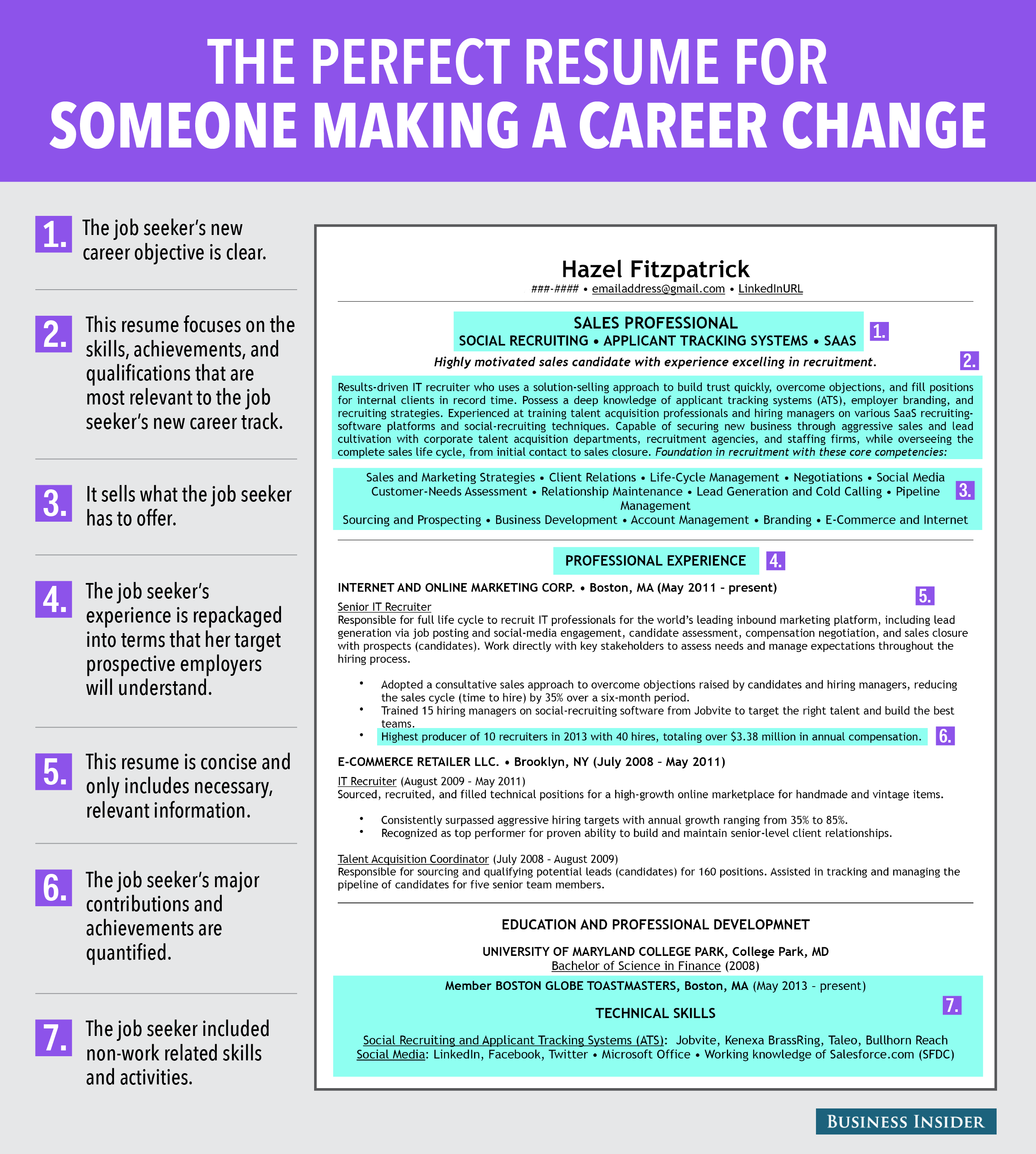 7 Reasons This Is An Ideal Resume For Someone Making A