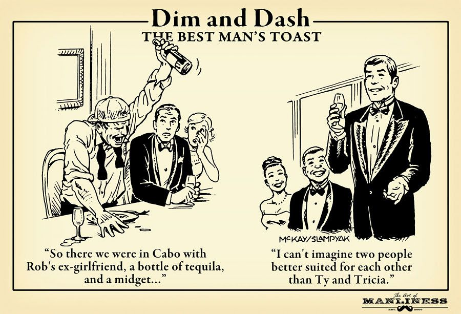 Dim & Dash The Best Man's Toast Best man toast, Best