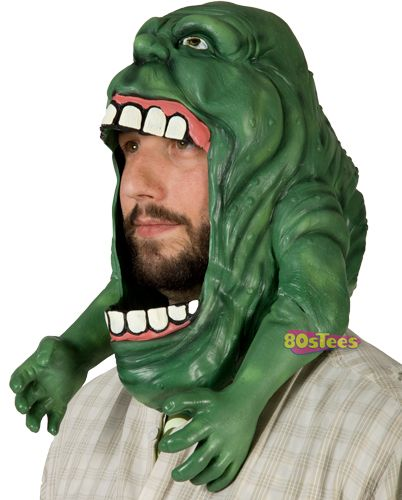 Slimer Mask Masking Ghostbusters Costume And Costumes