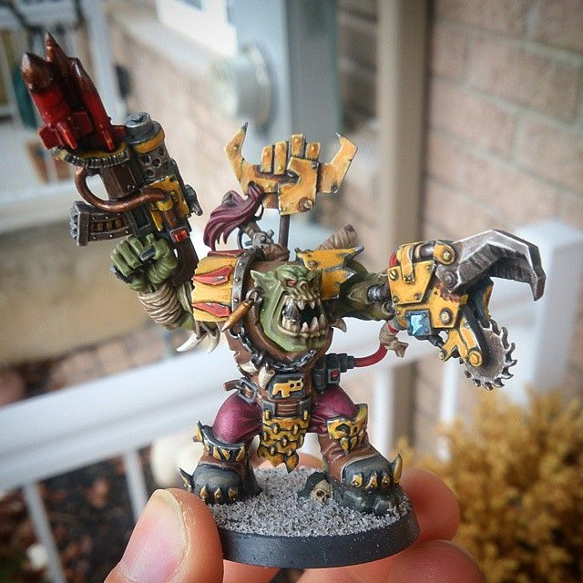Ork Warboss, Painted With The P3 Paint Line.