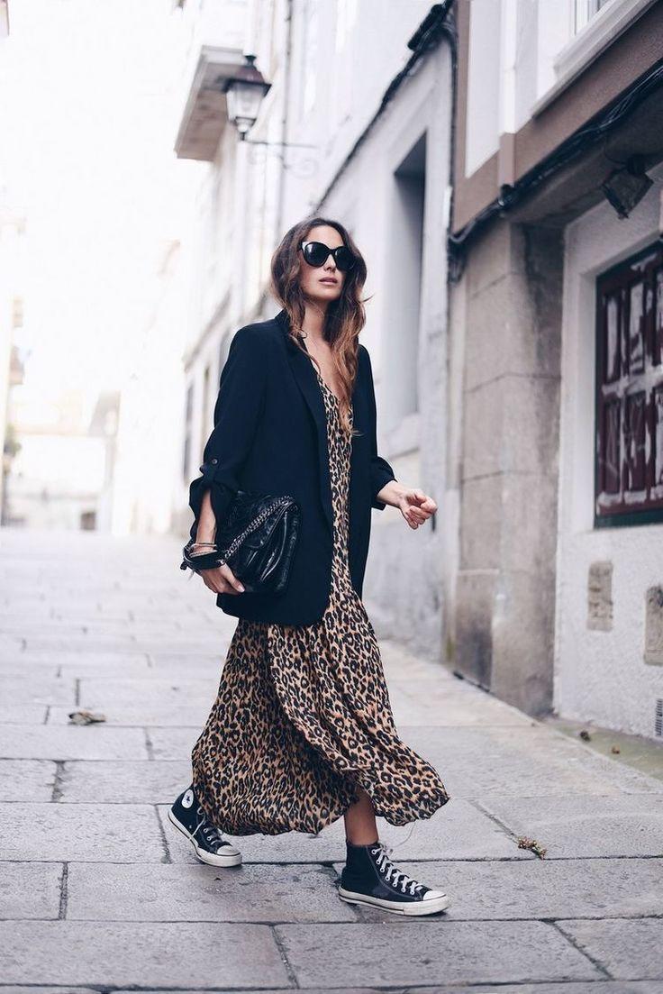 leopard dress + all star (stellawantstodie)