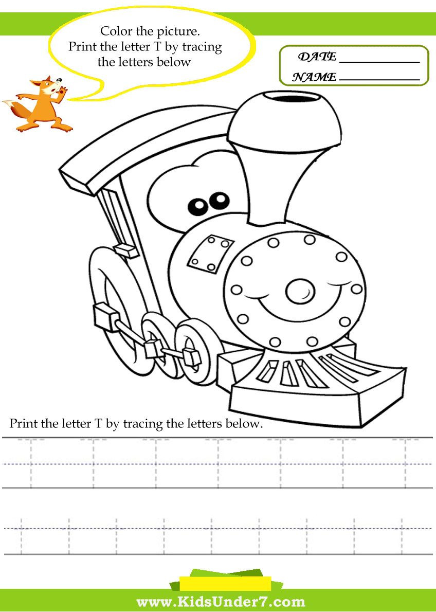 Alphabet worksheets.Trace and Print Letter T Traceable